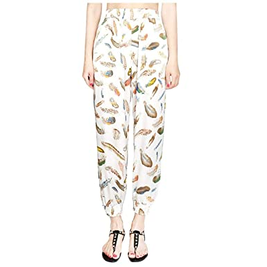 Femme Pantalon Long Elégante Impression Taille Haute Pantalon Ete Pantalon  Culotte Bouffante Bouffant Loisir Mode Pantalon bb47ea0612b6