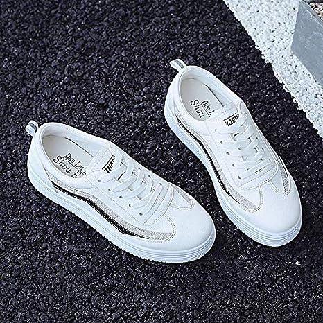 ZHZNVX Zapatillas de Confort para Mujer PU (Poliuretano) Zapatillas de Deporte Minimalistas de otoño