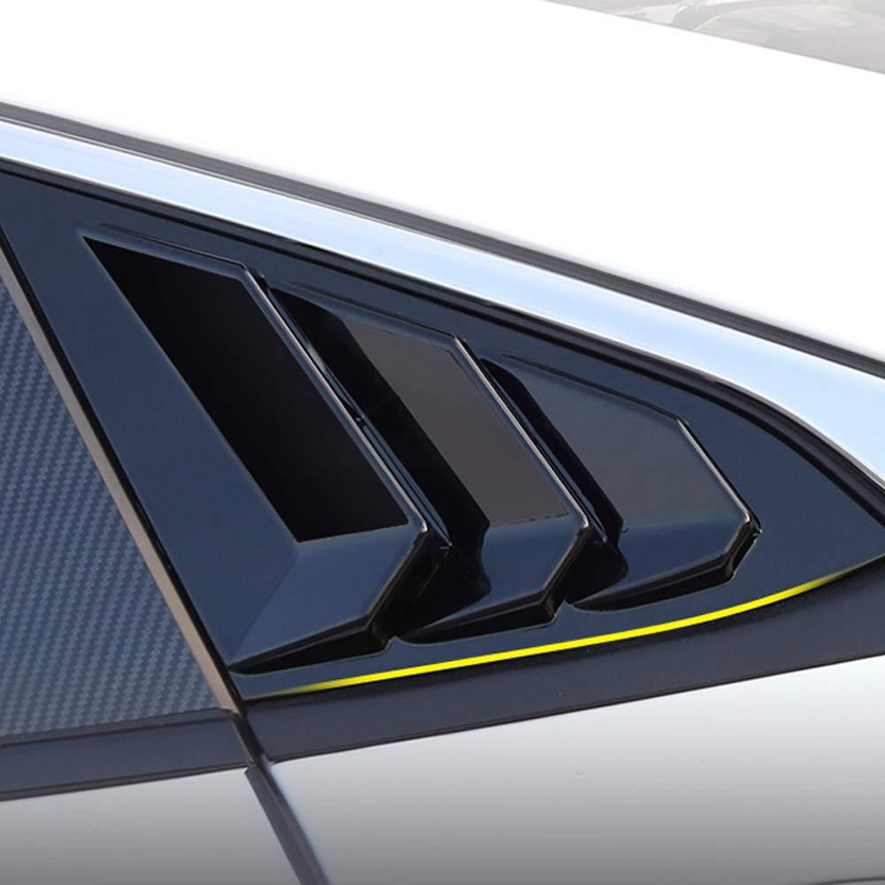 YUZHONGTIAN 2016-2019 for Honda Civic 4dr Sedan Window Scoop Louvers Cover ABS 2PCS Glossy Black