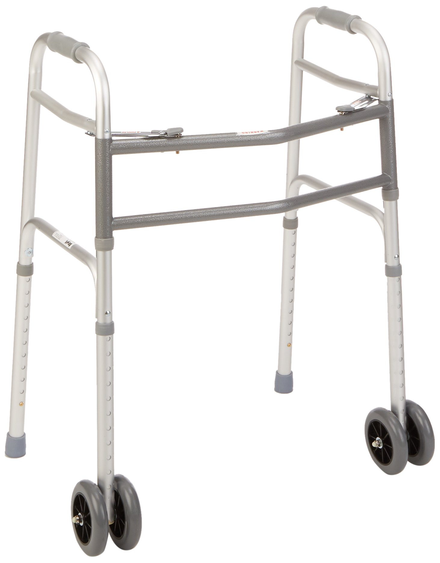 Days Bariatric Adjustable Walker with Double 5'' Wheels for Elderly & Handicapped, Extra Wide Rollator, Heavy Duty Stable Walker with Dual Release Locking, Mobility Assist for Tall & Large Individuals