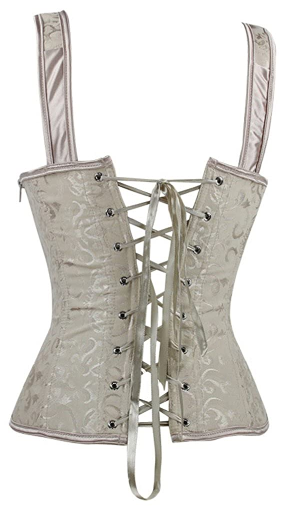 7e5aac11a67 Imilan Women Sexy Boned Lace up Corsets and Strap Bustiers Top (FBA) at  Amazon Women s Clothing store