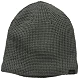 Levi's Men's Waffle Knit Beanie with Sherpa Lining, Grey Heather, One Size