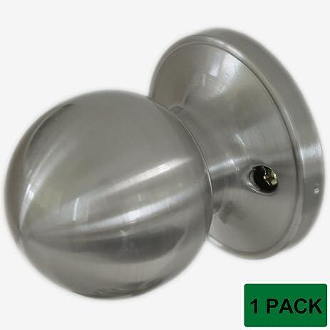 Probrico Ball Door Knobs Dummy Door Locks Brushed Nickel - - Amazon.com