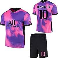 SHDBHD Temporada 2020/21 Paris Camiseta de Fútbol,10#Neymar Uniformes de Fútbol para Adultos y Niños Camiseta Corta…