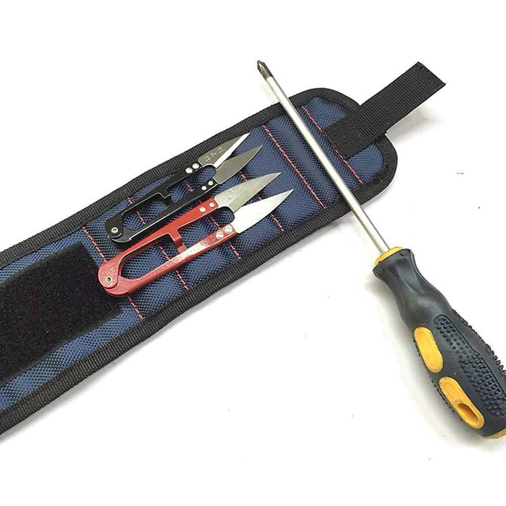 Muñ equera magné tica Pulsera de cierre magné tico con 5 imanes potentes destornillador y llave correa de muñ eca magné tica para sujetar tornillos y clavos brocas herramienta de bricolaje mejor Handyman D.RoC