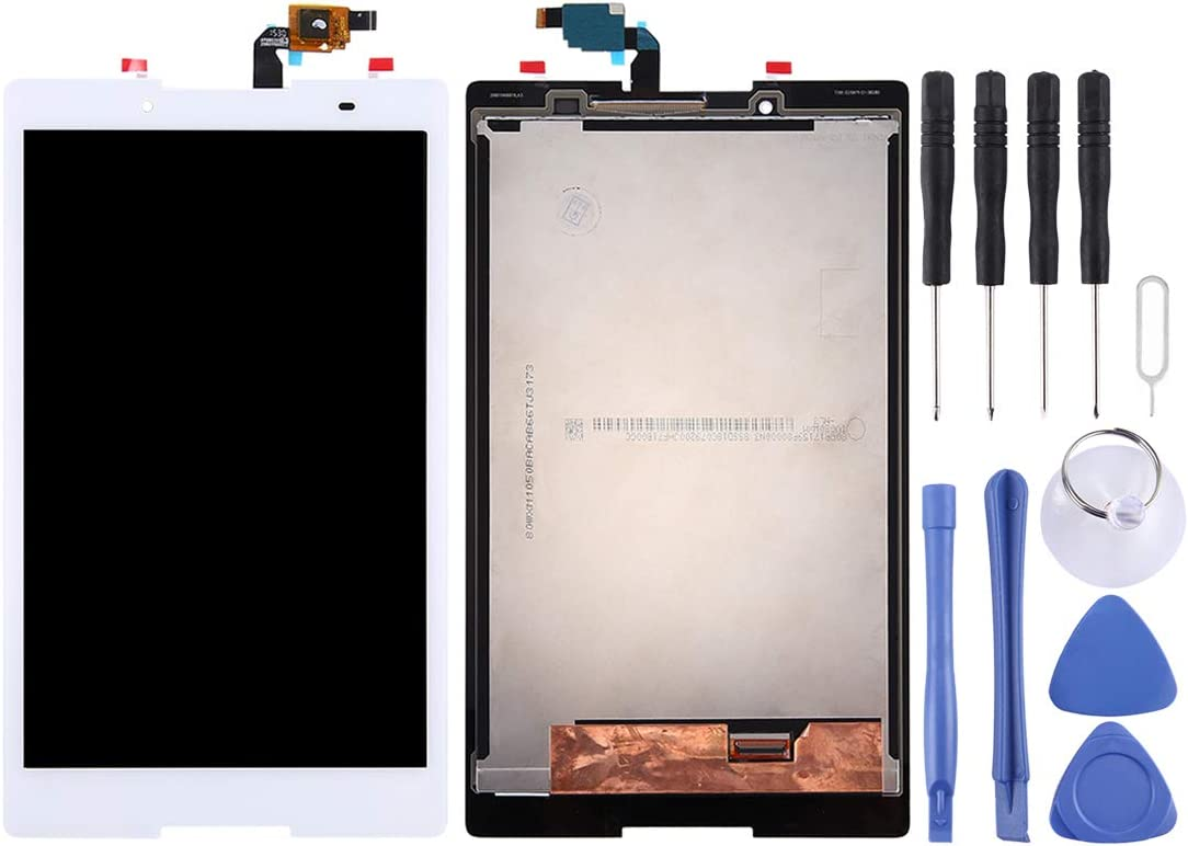 Linmatealliance LCD Screen Replacement LCD Replacement Touch Screen LCD Screen and Digitizer Full Assembly for Lenovo Tab3 8 / TB3-850 / TB3-850F / TB3-850M(Black) (Color : White)