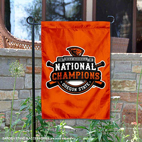 (College Flags and Banners Co. Oregon State Beavers 2018 Baseball National Champions Garden Flag)