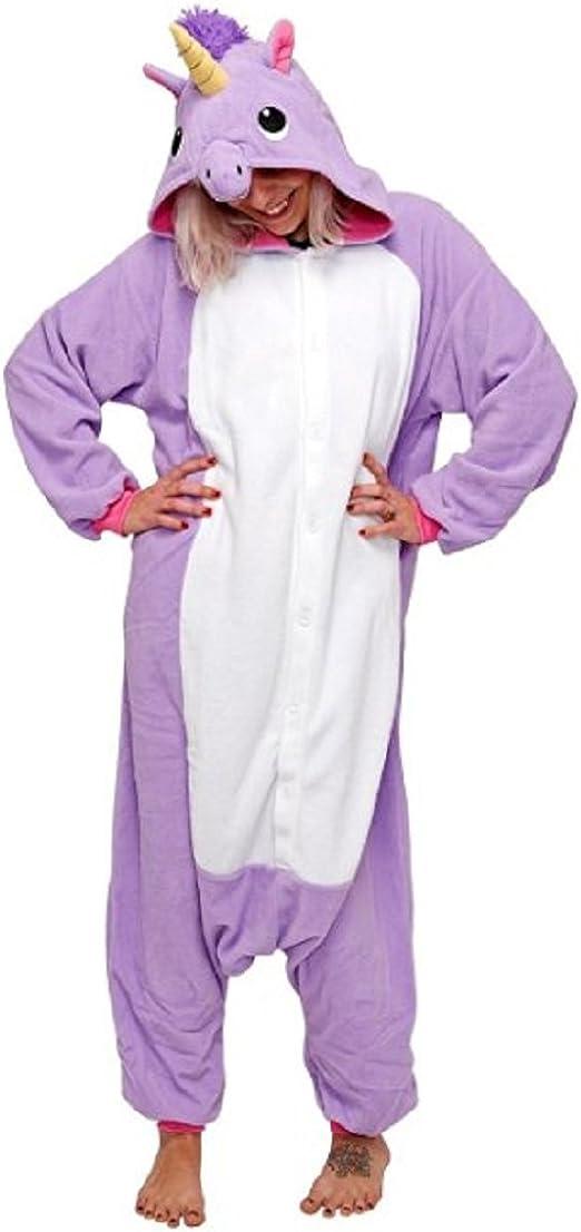 Kischers Unisexo Adulto Divertidos Unicornio Pijamas Mujer Invierno Kigurumi Pijama Enteros Cosplay Animales Homewear Franela