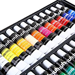Watercolor Paint Set, 24 Colors Ohuhu Artists Water Color Painting Set Water-Color Paints Kit, 12ml x 24 Tubes