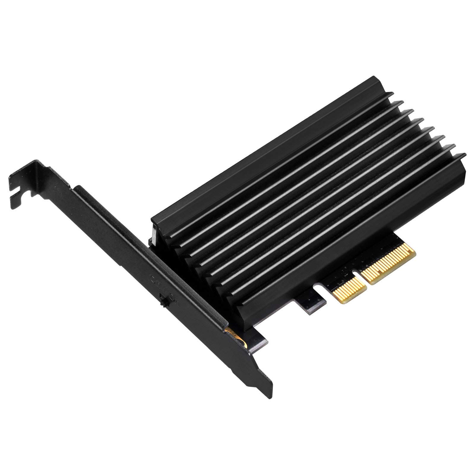 SilverStone Technology M.2 M Key PCIe NVMe Adapter to PCIe X4 with Integrated Heatsink SST-ECM24