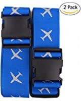 Beschan Suitcases Cross Luggage Strap Travel Belt Tags