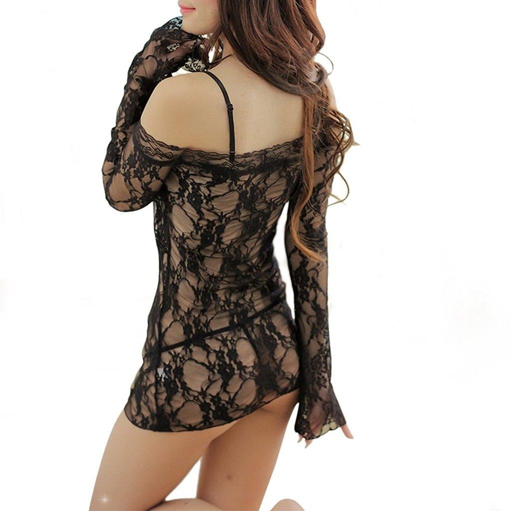 1e737c76ed8 Amazon.com  VISKEY Sexy Erotic Lingerie Black Strings Teddy Romper Stripper  Wear (Bow Tie Strings)  Home   Kitchen