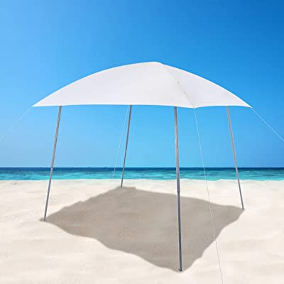 PHIVILLA 8' x 8' Lightweight Outdoor Canopy Tent, Portable Slant Leg Canopy for Camping, Beach and Party Wedding Camping, White : Garden & Outdoor