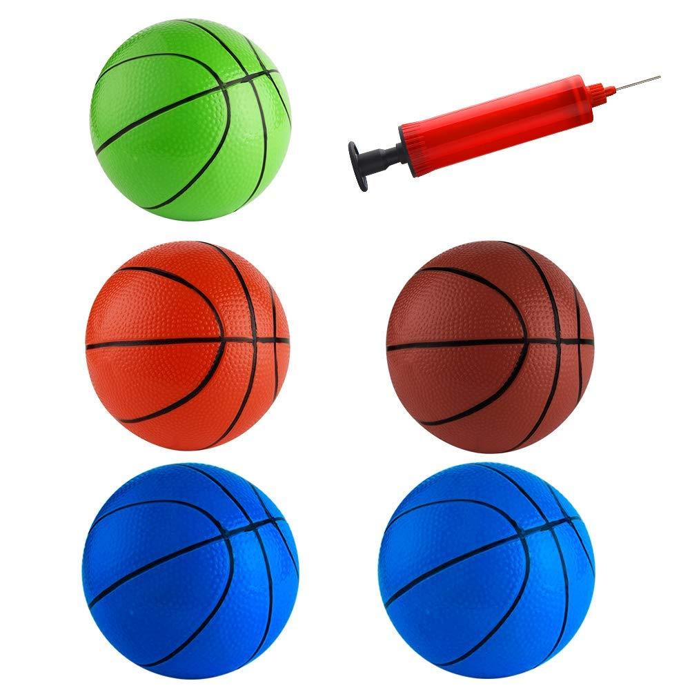 Velidy 6.3インチ ミニバスケットボール空気入れミニボールおもちゃ ポンプとバスケットボールニードル付き 子供用 5個 B07QTJQJ6F