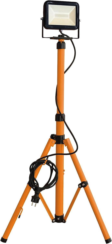 Tibelec 347660 – Proyector LED de obra sobre pie telescópico ...