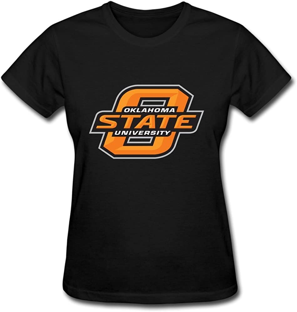 DALJ Tee Adultos Nerdy Marca Oklahoma Estado cowboysâ Logo Camisetas