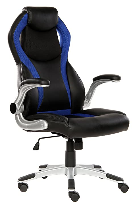 SEATZONE High Back Executive Swivel Office Chair, Adjustable Gaming Chair  With Folding Armrest,