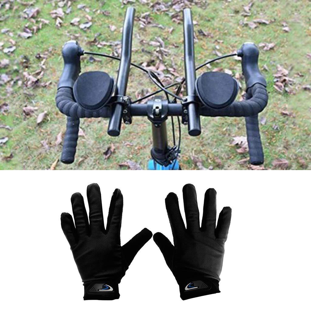 perfeclan Bike TT Aero Bars Resto del Manillar Bicicleta Aleaci/ón De Aluminio Brazo del Descanso Barras con Un Par Guantes De Montar Gratis con Correa Ajustable