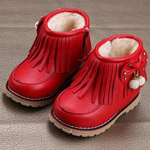 V-SOL Niñas Zapatos de Nieve Calzado Antideslizante Talla 25 Longitud de Pies 15.5cm Rosa t4jd8