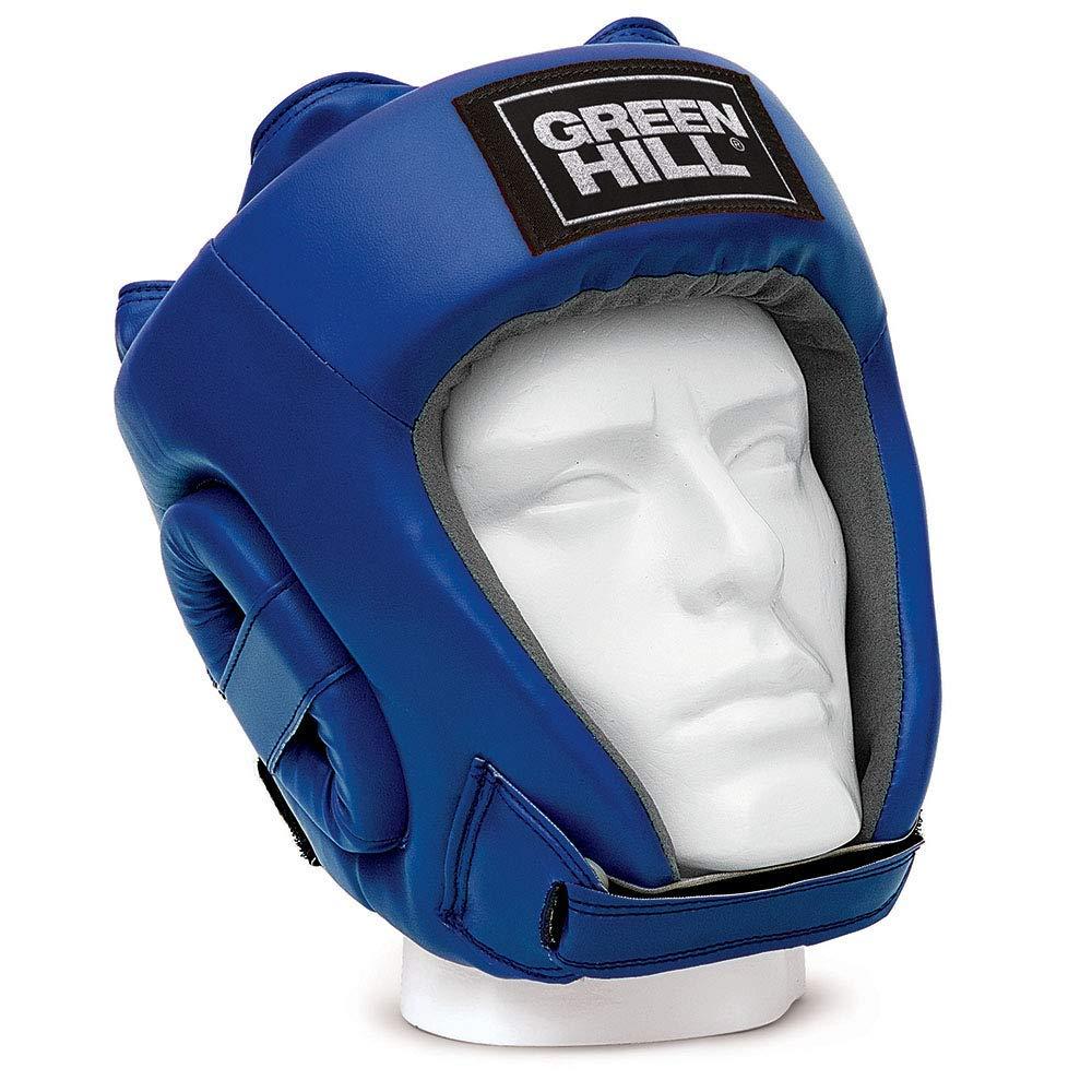 GREEN HILL HEAD GUARD TRAINING BOXING OPEN FACE HEADGEAR BLACK RED BLUE