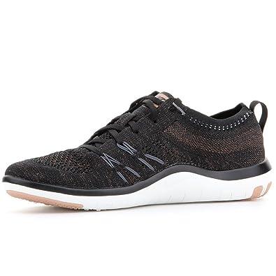 brand new d88a9 99eb9 Nike Womens Wmns Free TR Focus Flyknit, BLACK DARK GREY, 5 M US