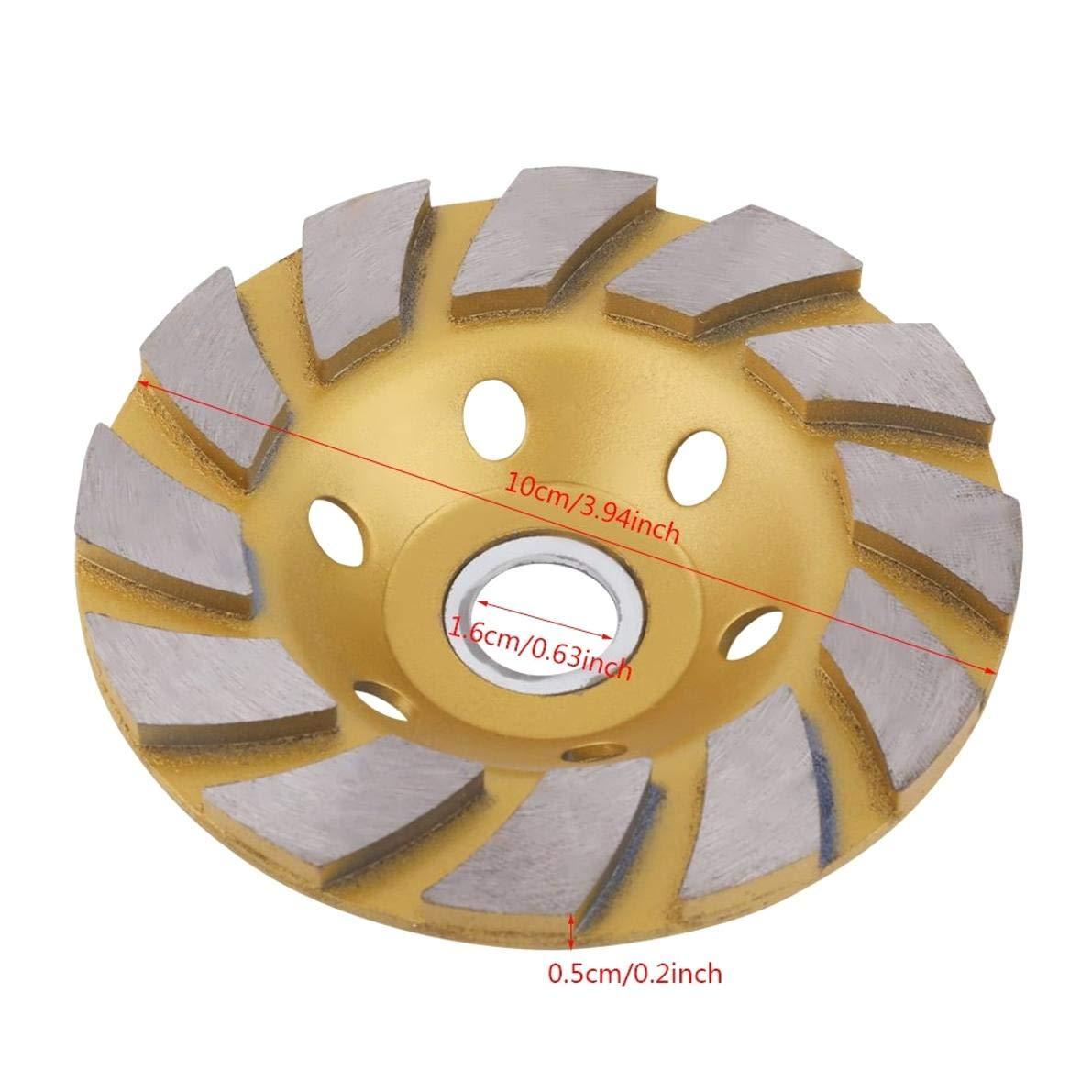 PRINDIY Muela de Diamante 10cm Segmento de Diamante Disco de muela de 6 Agujeros para Piedra de hormig/ón de m/ármol