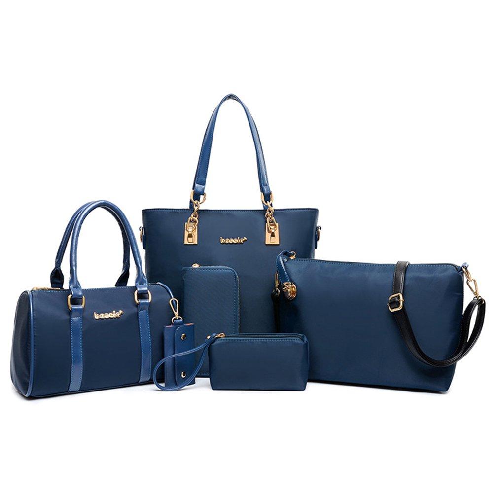 Meolin 6 Pcs Shoulder Bags Top-Handle Handbag Tote Purse Cross-Body Bag Set ,Oxford, polyester,.