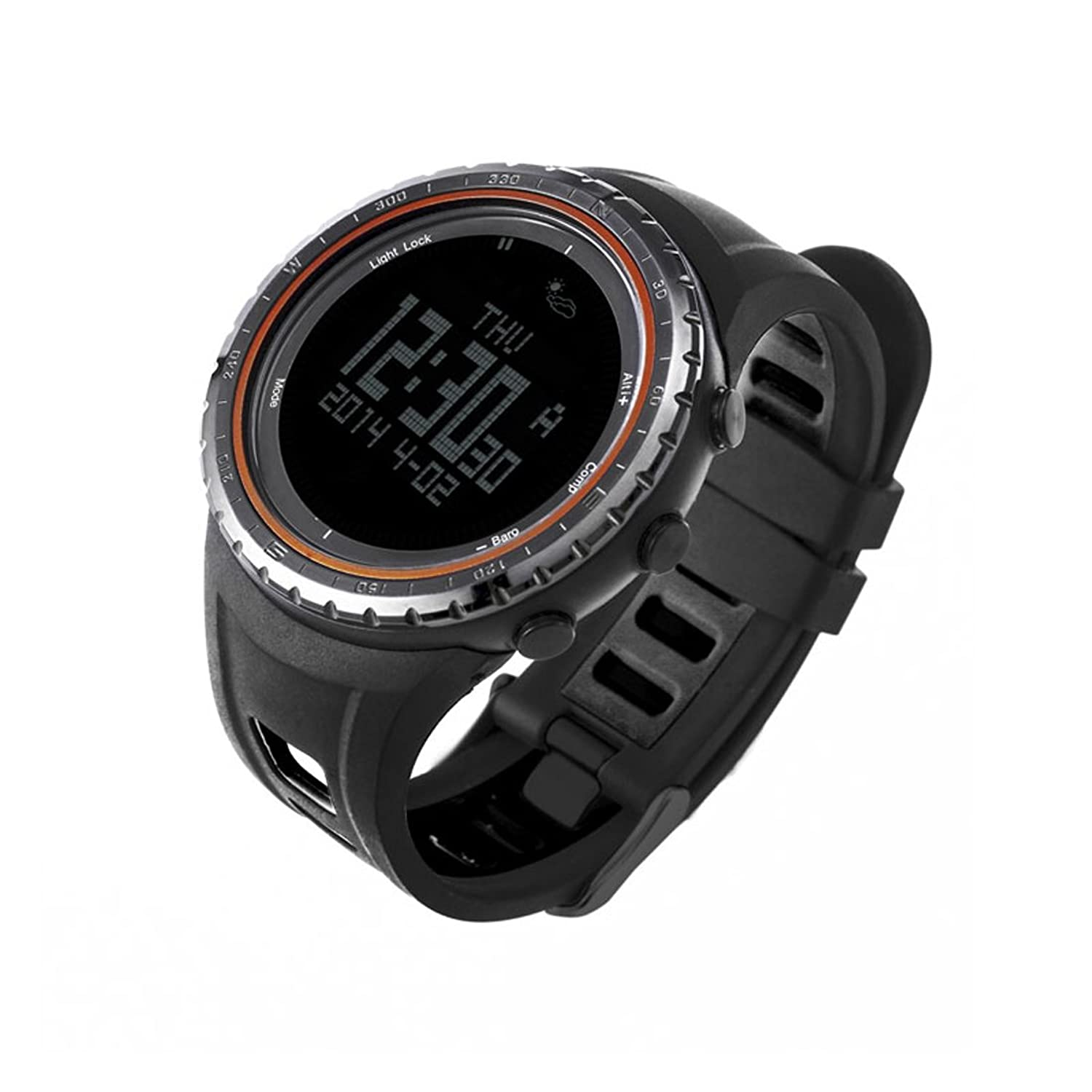 SUNROAD FR801B Multifunction Sports Watch -Pedometer Stopwatch Altimeter Barometer Thermometer CompassTimer LCD