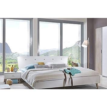 INSIDE Ensembre Chambre à Coucher VIBORG 180 * 200cm Style Scandinave