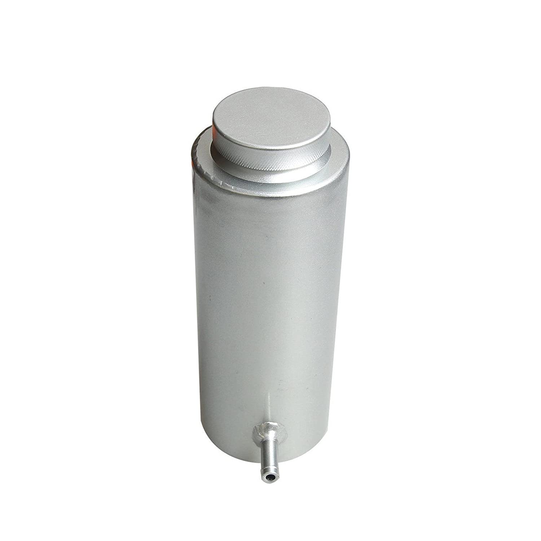 Silver Universal Radiator Coolant Aluminum Catch Tank Overflow Reservoir 800ml