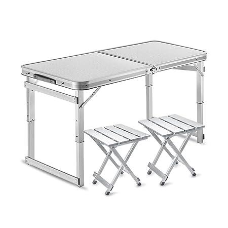 TTZDZ Mesa Plegable Plegable de Aluminio Mesa de Camping Altura ...
