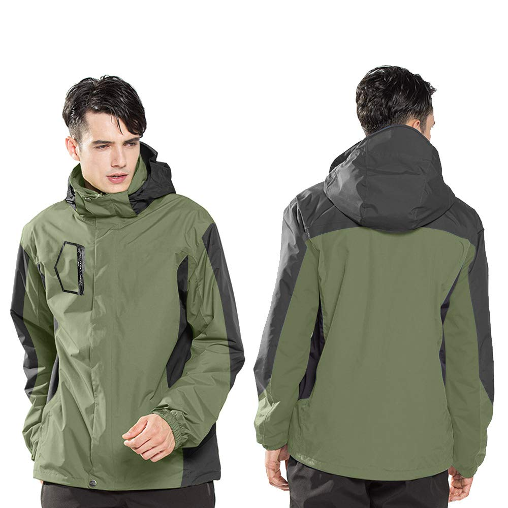 LUOLUO Herren Softshell Funktions Jacke Outdoor Sport Jacke /Übergangsjacke Freizeitjacke Blau XL