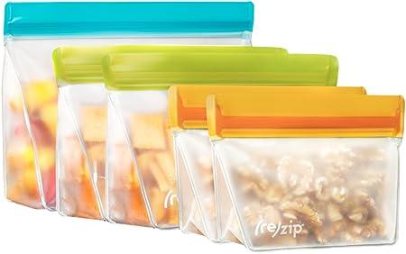 Amazon.com: Rezip - Bolsa de almacenamiento reutilizable, 5 ...