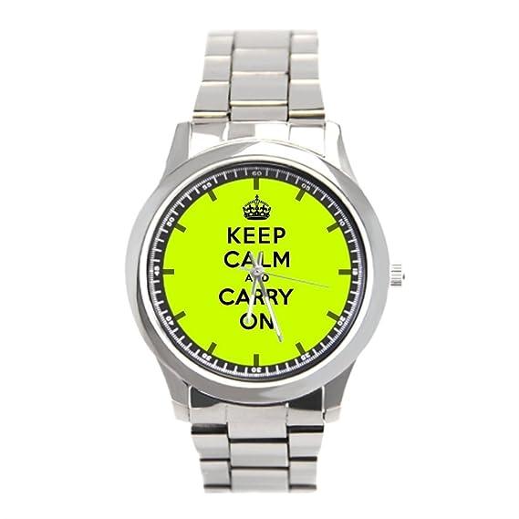 Dr. La segunda guerra mundial Koo bandas de acero inoxidable reloj para hombre Propaganda para hombre acero inoxidable relojes: Amazon.es: Relojes