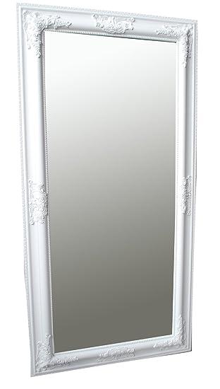 Spiegel Wandspiegel Samantha Weiß Barock 100 X 50 Cm Amazonde