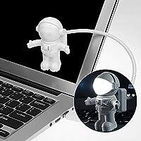 AIUIN astronaut nachtlampje Spaceman Astro lamp flexibele mini USB-LED lamp licht voor laptop notitieboek licht wit…