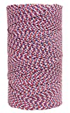 W. Rose  RO687 Super Tough Professional Bonded Braided Nylon Mason's Line, 685-Feet, White/Blue/Red