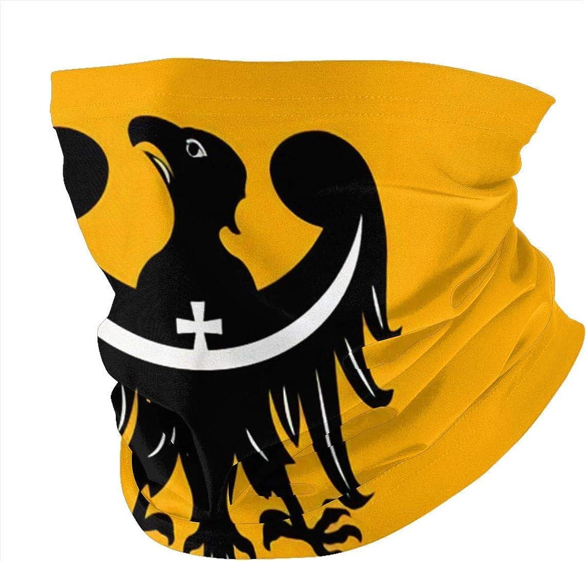 Face Scarf Bandana Flagge der Niederschlesischen Voivodeship oder Schlesien Provinz in Polen Wiederverwendbare Maske Anti-Staub-Schals f/ür Damen Herren Outdoor Neck Gaiter Kopfbedeckung Schwarz