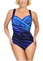 Kirkland Signature By Miraclesuit One Piece Swimsuit (8, New Wave Sanibel)