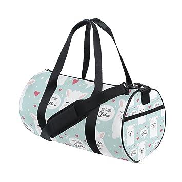 9cd206323789 Amazon.com | Sports Gym Bag No Drama Llama Packable Travel Duffel ...