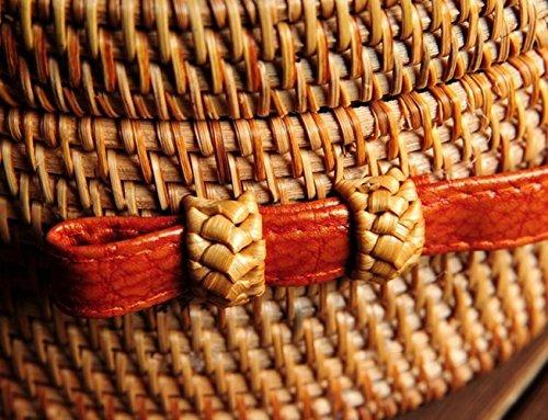 Bandoulière Sac Paille De La Mesdames Plage à Main Main Sac Rotin Vietnamienne Green Sac GZHGF en Tisséà SwPqFfXFx