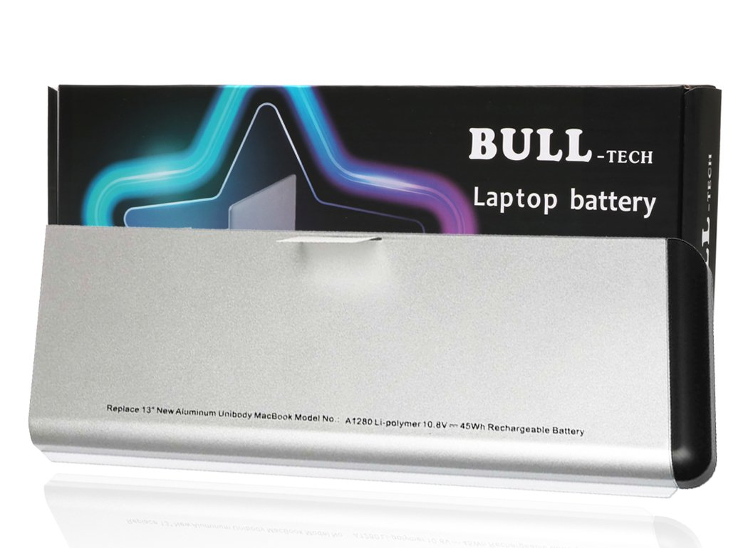 A1280 Battery Replacement New Laptop Battery for Apple A1280 A1278 (2008 Version) Macbook 13-Inch Series, Compabiel for MB771G/A MB467LL/A MB466LL/A [Li-Polymer 6-cell 45Wh]