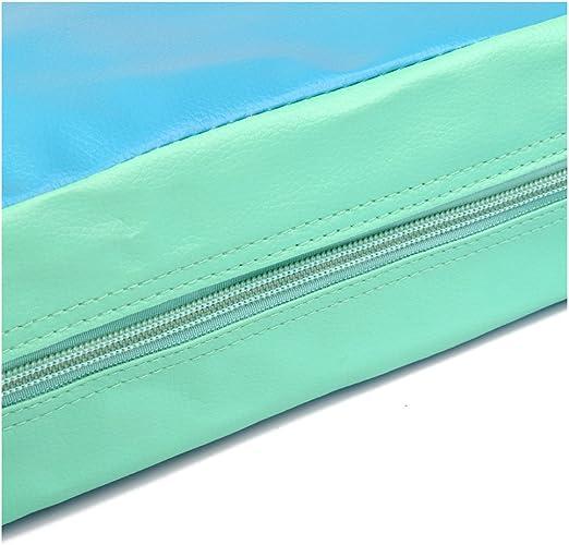 Tuneway Cojin Elevador de Silla ninos Asientos de Almuerzo portatil de Piel Sintetica de ninos Verde Azul