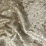 ShinyBeauty Luxury Mermaid-Sequin Curtain Backdrop-Matte Gold-9FTx9FT,Reversable Sequin Fabric Curtain Background as Photo Boot or Photography for Wedding Event Decoration