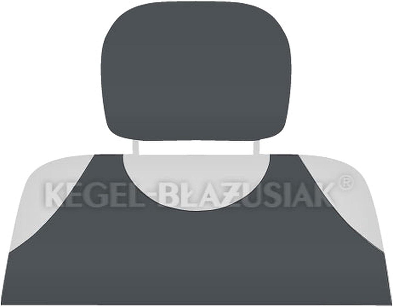 ZentimeX Z713310 Kopfst/ützenbez/üge Baumwolle dunkel grau