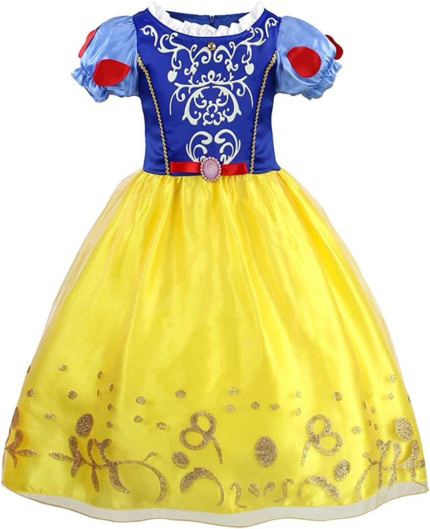 WonderBabe Princess Dress for Little Girl Halloween Fancy Party Role Play Dress Up Costume