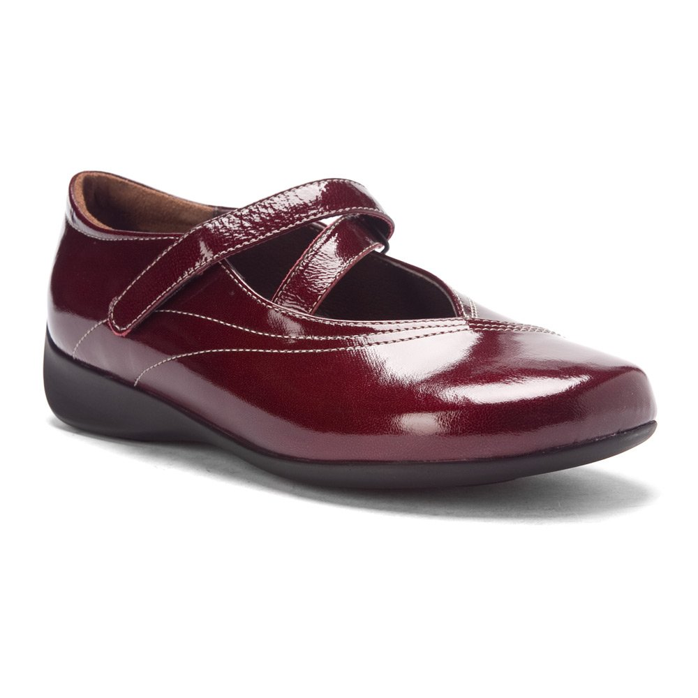 Wolky Comfort Mary Janes Silky B0042LHU7O 41 M EU|Bordo Patent Leather