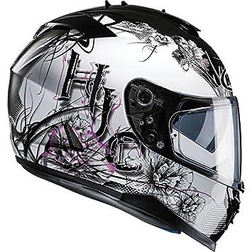 Casco completo HJC IS-17, deportivo, para motocicleta,Barbwire rosa