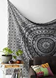 Best White Elephant Gifts - Craftozone white and black mandala Tapestry , Elephant Review