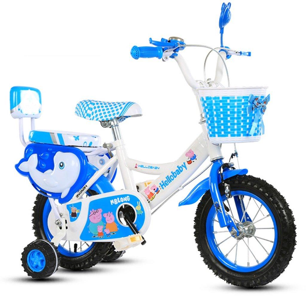 子供の自転車 12/14/16/18インチの男の子と女の子の自転車 3/6/8歳の子供の三輪車の屋外の遊び子供用自転車 16 inches Blue B07GCFLBBB